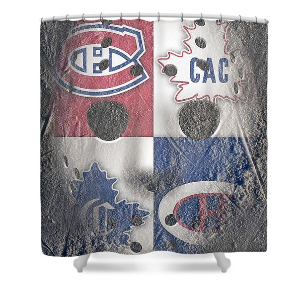 Frozen Canadiens Shower Curtain