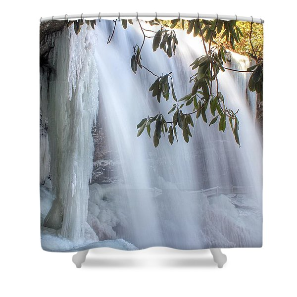 Frozen Dry Falls Shower Curtain