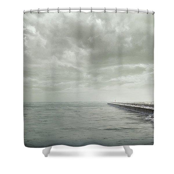 Frozen Jetty Shower Curtain