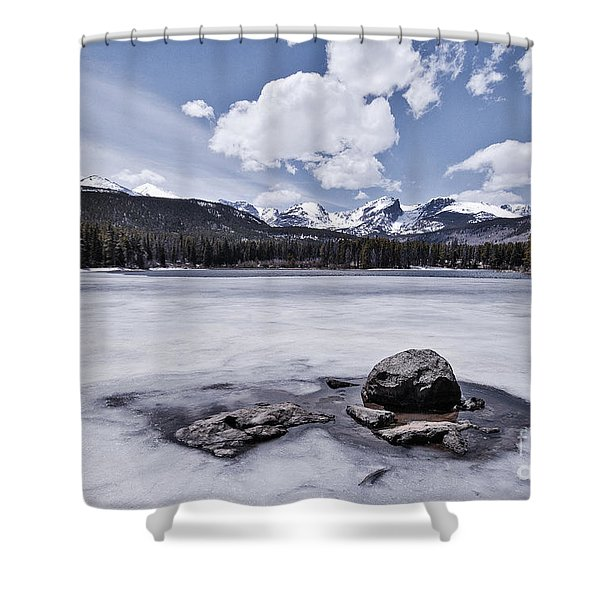 Shower Curtain featuring the photograph Frozen Lake by Mae Wertz