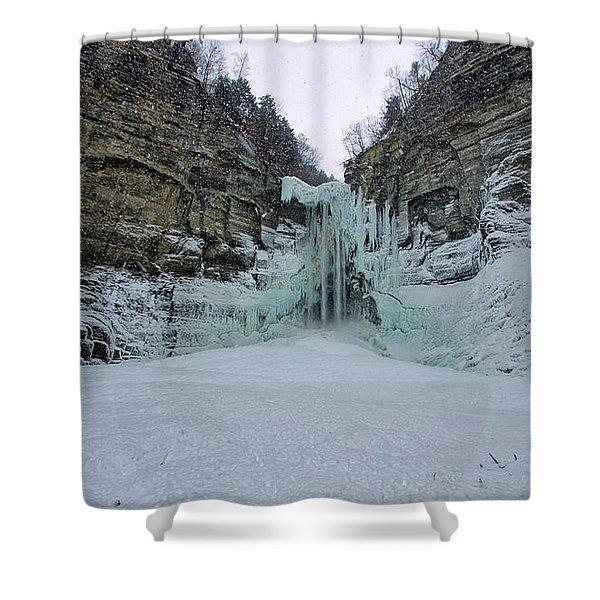 Frozen Waterfalls Shower Curtain