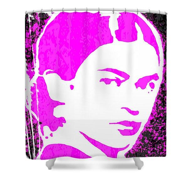 Fuchsia Frida Shower Curtain