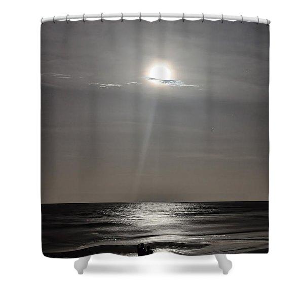 Full Moon Over Daytona Beach Shower Curtain
