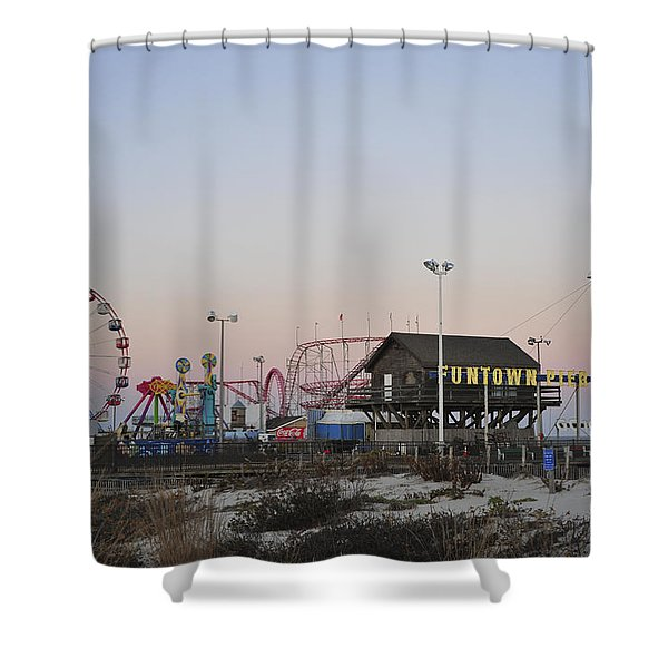 Fun At The Shore Seaside Park New Jersey Shower Curtain