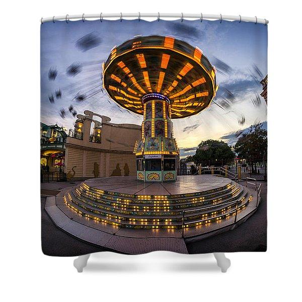 Fun Fair In The Night Shower Curtain