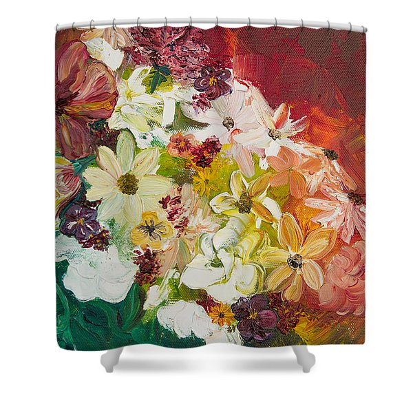 Fun With Flowers Shower Curtain