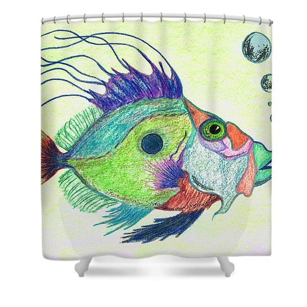 Funky Fish Art - By Sharon Cummings Shower Curtain