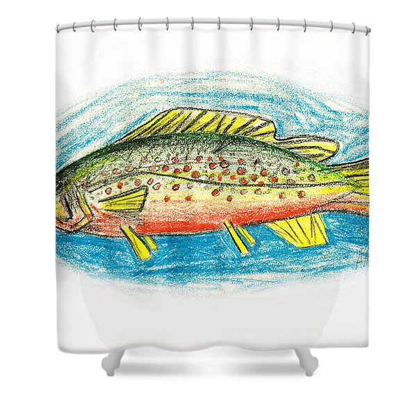 Funky Trout Shower Curtain