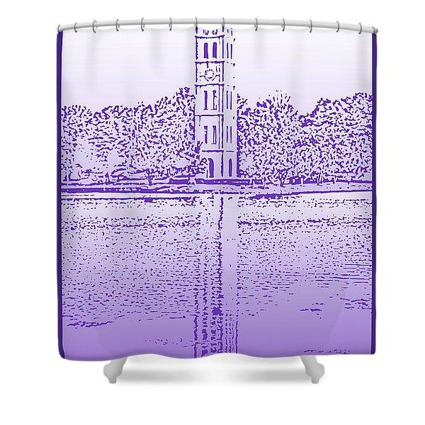 Furman Bell Tower Shower Curtain