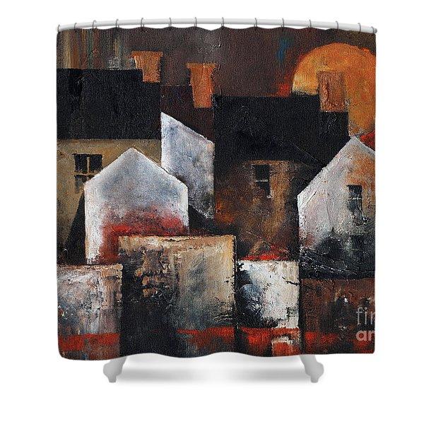 Gables Sunset Shower Curtain
