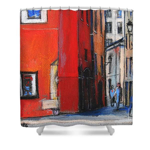 Gadagne Museum Facade In Lyon France Shower Curtain