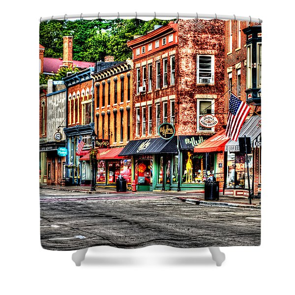 Galena Main Street Early Summer Morning Shower Curtain