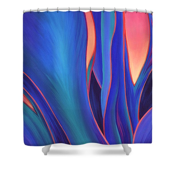 Shower Curtain featuring the painting Garden Party by Sandi Whetzel