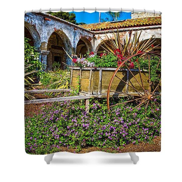 Garden Wagon Shower Curtain