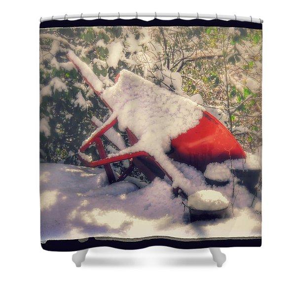 Gardener's Winter Dream Shower Curtain