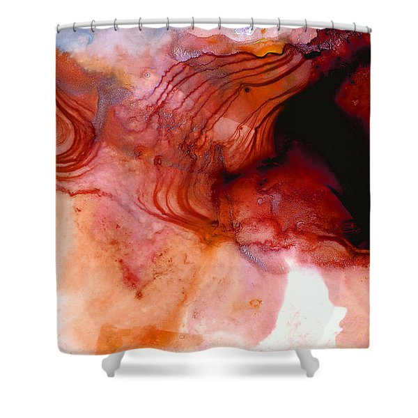 Garnet Sea - Abstract Art By Sharon Cummings Shower Curtain
