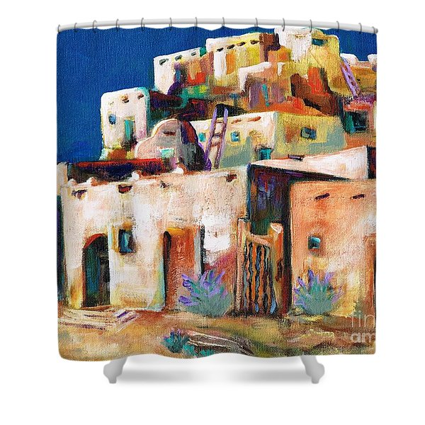 Gateway Into  The  Pueblo Shower Curtain