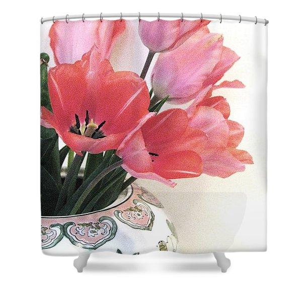Gathered Tulips Shower Curtain