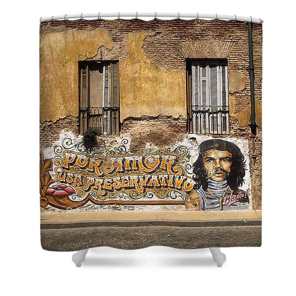 Gaucho Che Promotes Contraception Shower Curtain