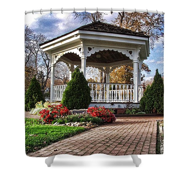 Gazebo At Olmsted Falls - 3 Shower Curtain