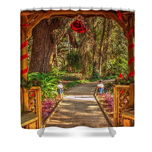 Gazebo Bells Shower Curtain