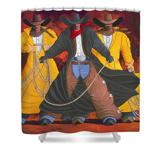 Good Bad And Ugly Shower Curtain