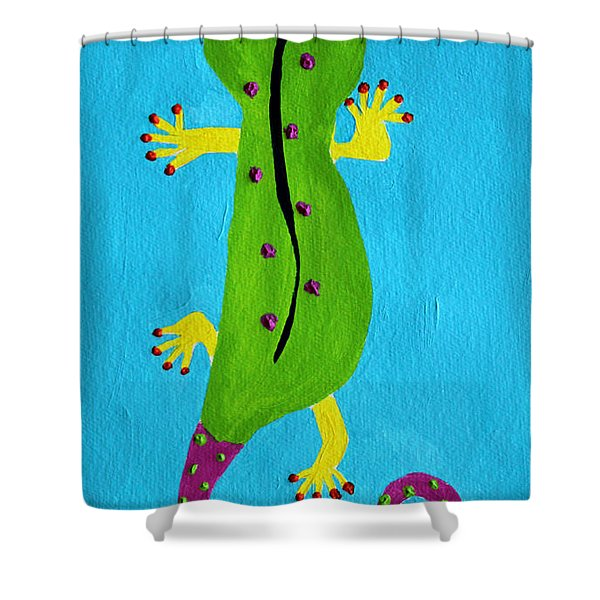Gecko Gecko Shower Curtain
