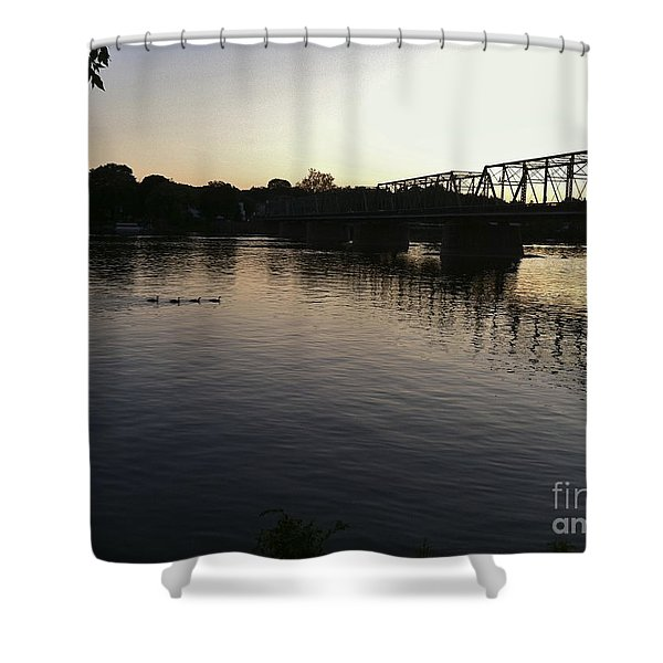 Geese Going Places Shower Curtain
