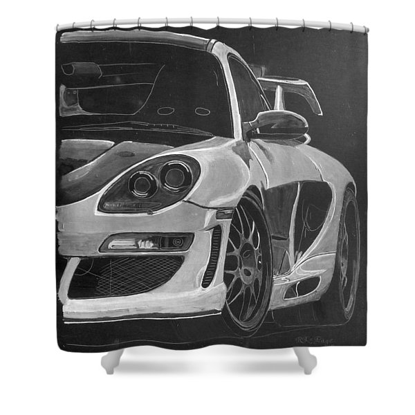 Gemballa Porsche Left Shower Curtain