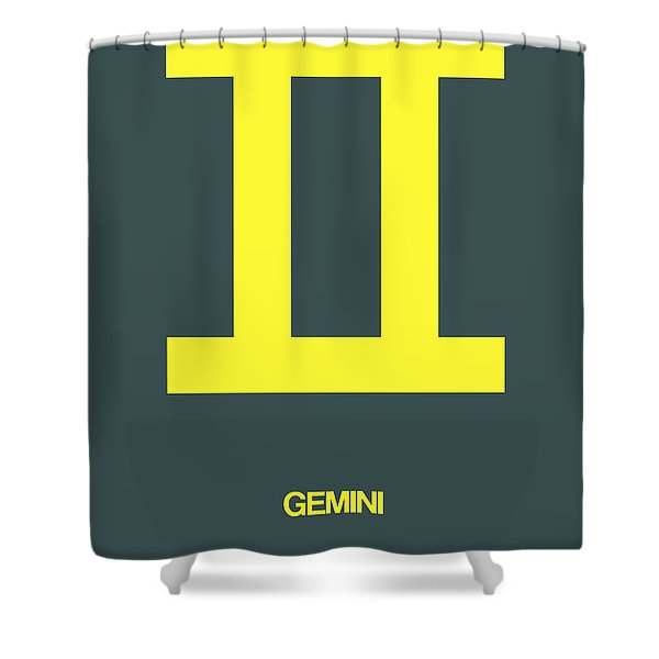 Gemini Zodiac Sign Yellow Shower Curtain