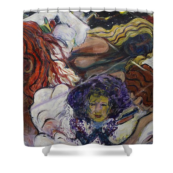 Genesis Shower Curtain by Avonelle Kelsey