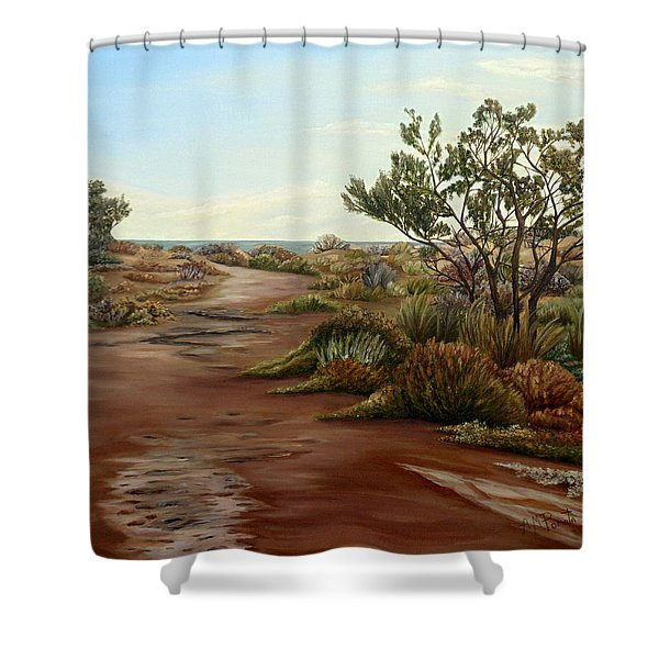 Genoveses' Walk Shower Curtain