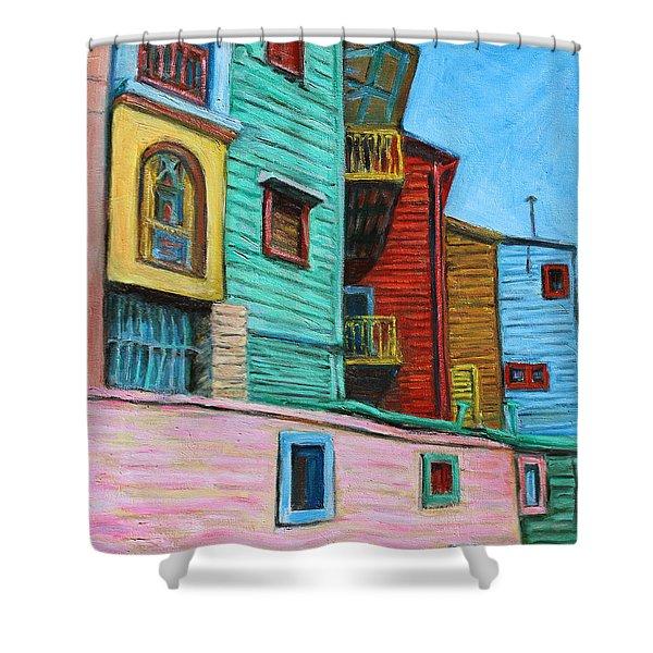 Geometric Colours II Shower Curtain