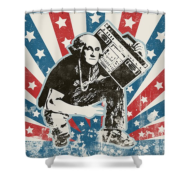 George Washington - Boombox Shower Curtain