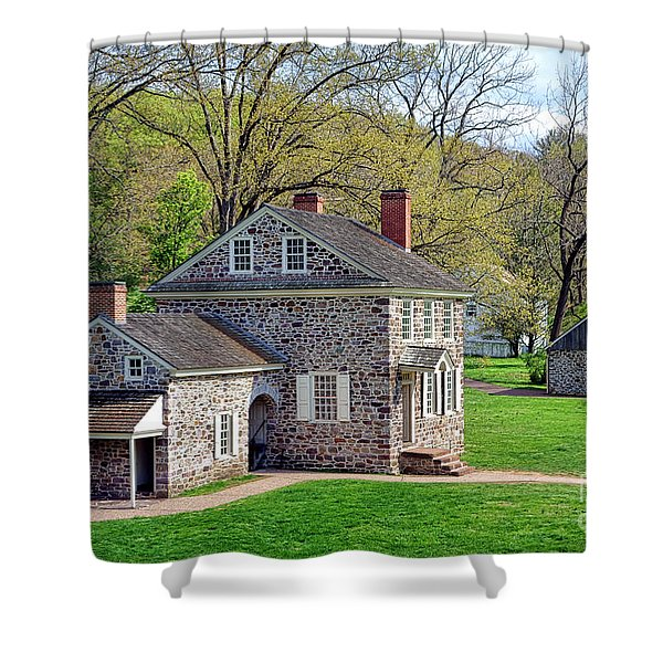 George Washington Headquarters At Valley Forge Shower Curtain
