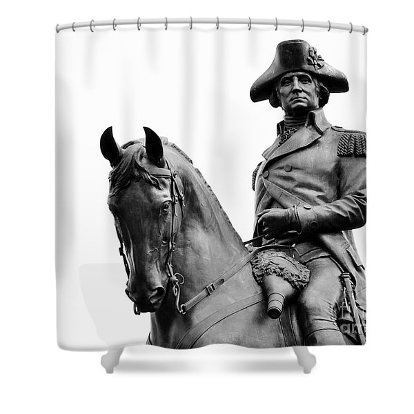 George Washington Statue Boston Ma Shower Curtain
