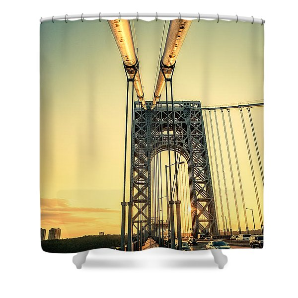 George Washington Sunset Shower Curtain