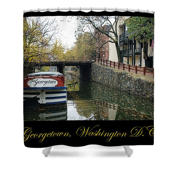 Georgetown Canal Poster Shower Curtain