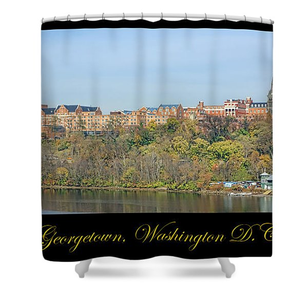 Georgetown Poster Shower Curtain