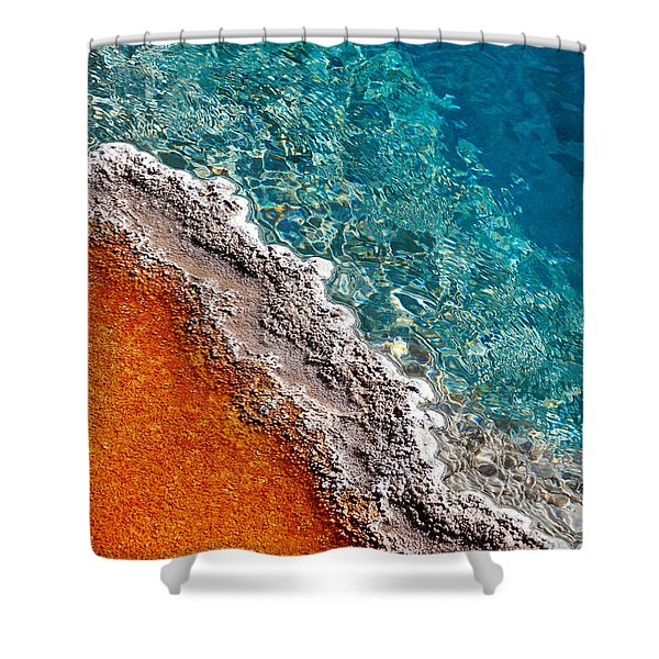 Geothermic Layers Shower Curtain