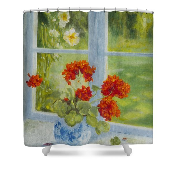 Geranium Morning Light Shower Curtain