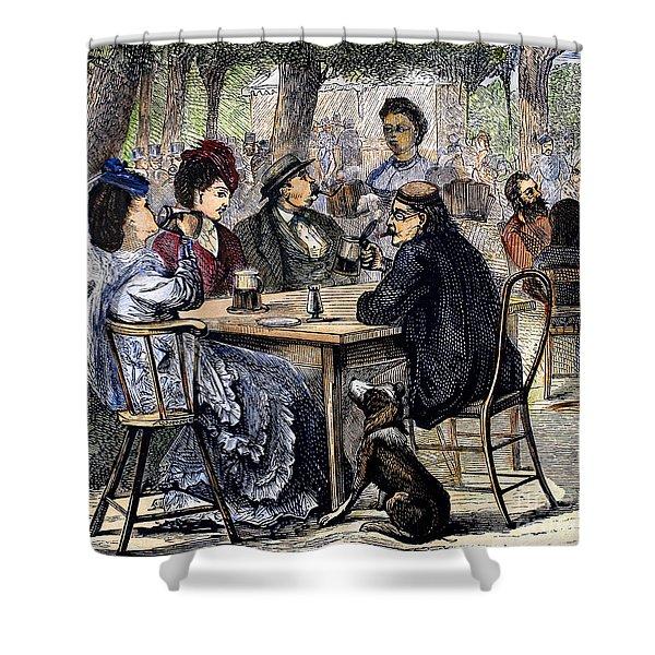 German Beer Garden, 1870 Shower Curtain