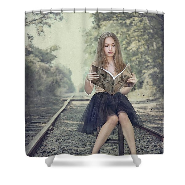 Get On The Right Track Shower Curtain