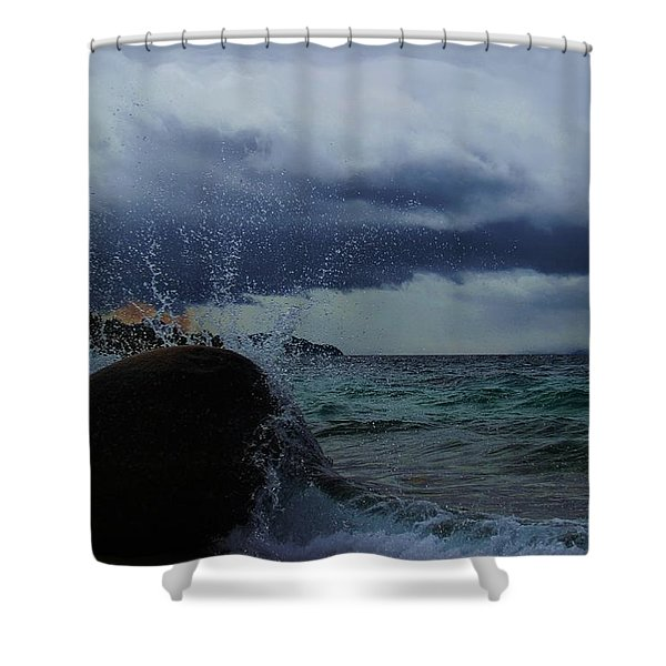 Shower Curtain featuring the photograph Get Splashed by Sean Sarsfield