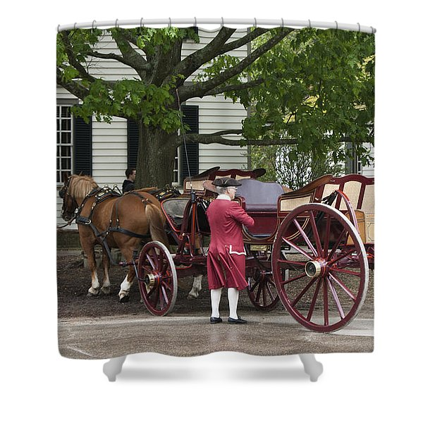 Getting Ready To Ride Shower Curtain