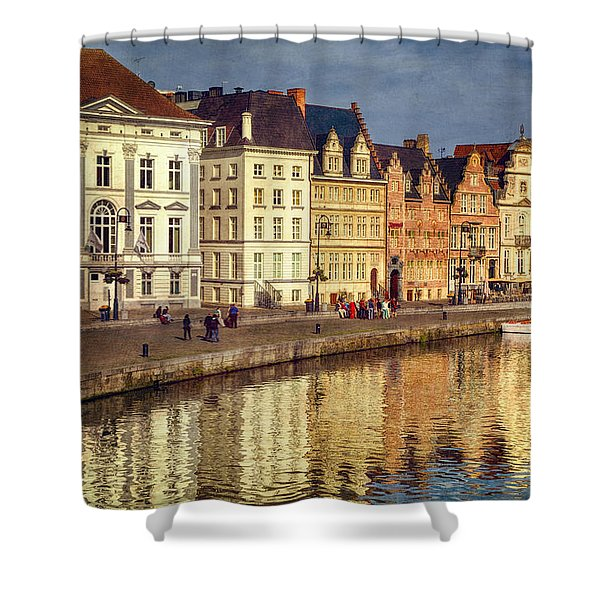 Ghent Waterfront Shower Curtain