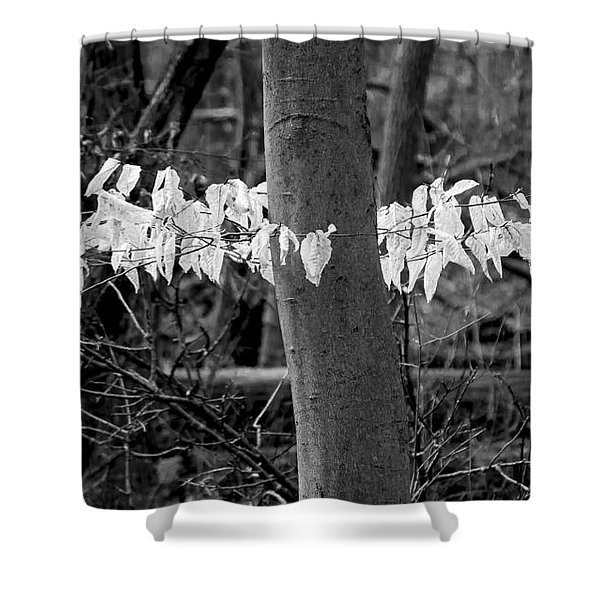 Ghost Leaves Shower Curtain