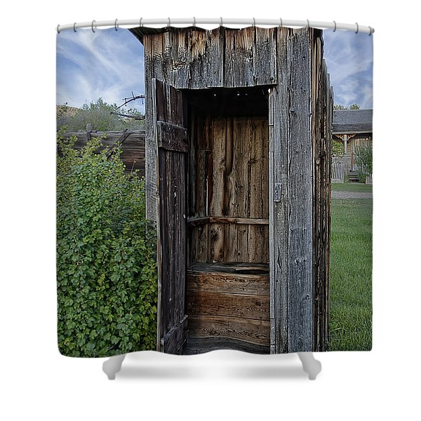 Ghost Town Outhouse - Montana Shower Curtain