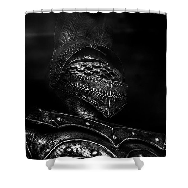Ghostly Knight Shower Curtain