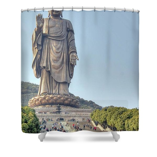 Giant Buddha Shower Curtain